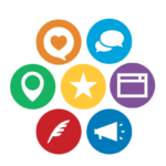 Icon wheel of business marketing apps